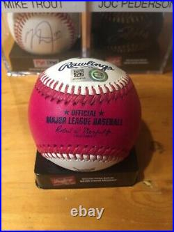 PETE ALONSO Autographed Signed 2019 Home Run Derby Pink Money Ball FANATICS HOLO