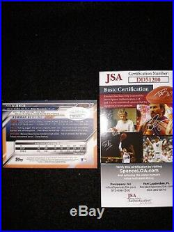 PETE ALONSO METS ROOKIE'HOME RUN DERBY WINNER' SIGNED 2016 BOWMAN WithJSA COA