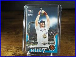 Pete Alonso 2021 MLB TOPPS NOW Card 504 Home run derby Blue Parallel 23/49