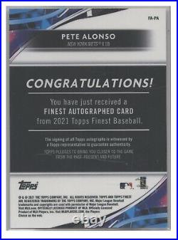 Pete Alonso Auto #10/25 Mets Home run Derby Champ Topps Finest