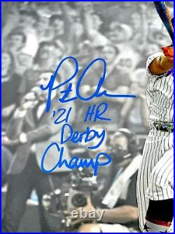 Pete Alonso Hand Signed Autographed Home Run Derby 16x20 Photo With Fanatics Coa