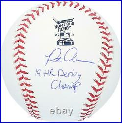 Pete Alonso Mets Signed 2019 Home Run Derby Baseball & 19 HR Derby Champ Insc