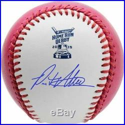 Pete Alonso NY Mets Signed 2019 Home Run Derby Pink Moneyball Baseball Fanatics