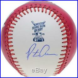 Pete Alonso New York Mets Signed 2019 Home Run Derby Pink Moneyball Baseball