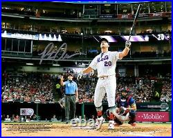 Pete Alonso New York Mets Signed 8 x 10 2019 MLB Home Run Derby Bat Flip Photo