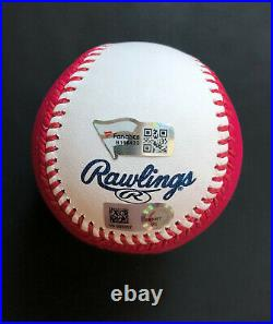 Pete Alonso autographed baseball 2021 Home Run Derby Pink Moneyball