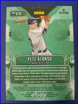Pete Alonzo 2021 PANINI DIAMOND KINGS DOWNTOWN #D-10 METS HOME RUN DERBY CHAMP