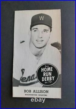 RARE 1959 Home Run Derby Bob Allison ROOKIE CARD $150.00 Minnesota Twins RC