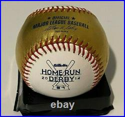 RARE 24K Gold Rawlings Official Major League 2014 Home Run Derby Logo Baseball