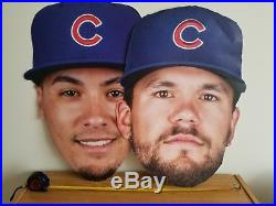 RARE Chicaco Cubs Baez & Schwarber 2018 MLB All Star Home Run Derby BIG HEADS