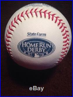 RAWLINGS 2008 OFFICIAL ALL STAR Game BASEBALL HOME RUN DERBY OLD YANKEE STADIUM