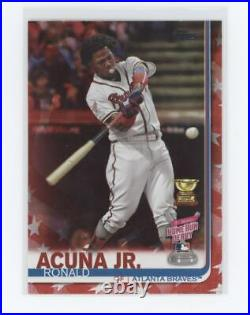 RONALD ACUNA JR 2019 TOPPS UPDATE HOME RUN DERBY Independence Day #US271 #/76