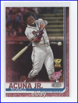 RONALD ACUNA JR 2019 TOPPS UPDATE HOME RUN DERBY Mother's Day #US271 #/50