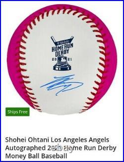 Rare Ohtani Auto Ball From 2021 Homerun Derby Money Ball Coa From Mlb Fanatics