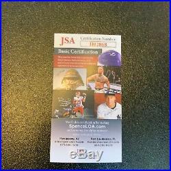 Rare Upper Deck Celebrity Home Run Derby Signed Bat With Dan Marino JSA COA
