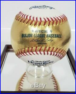 Rawlings 24kt Gold 2012 Home Run Derby Logo Baseball Very Rare Bud Selig
