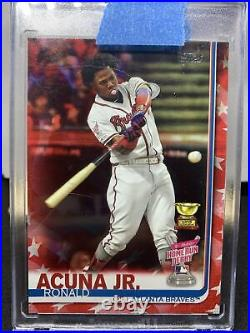 Ronald Acuna /76 SP Independence Day 2019 Topps Home Run Derby Atlanta Braves