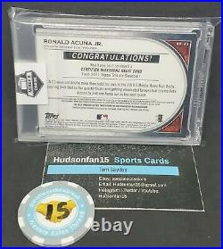 Ronald Acuna Jr. 2021 Topps Tribute 3/10 2019 Home Run Derby Used Ball Braves