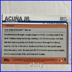 Ronald Acuna Jr Autographed Card, 2019 Topps All Star, Rookie Home Run Derby