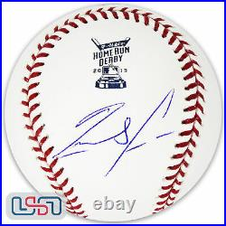 Ronald Acuna Jr. Braves Autographed Signed 2019 Home Run Derby Baseball JSA Auth