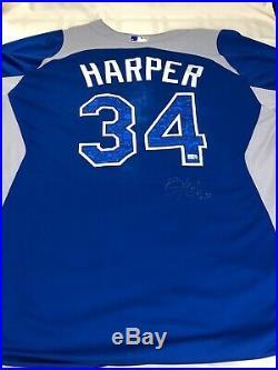 SUPER RARE Bryce Harper 2012 HOME RUN DERBY GAME WORN AUTOGRAPHED JERSEY
