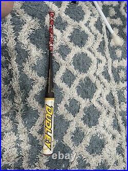 Shaved & Rolled Dudley Lightning Red Knob Homerun Derby SeniornSoftball Bat 28oz