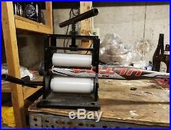 Shaved, Rolled slowpitch softball bat. 34/27 Homerun Derby