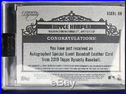 TOPPS DYNASTY 2019 BRYCE HARPER Ball AUTO /5 LEATHER Home Run Derby All Star