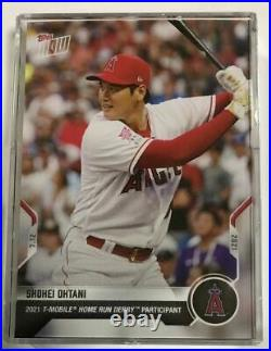 Topps NOW 2021 Shohei Otani 496 Home Run Derby Participant Commemorative Card