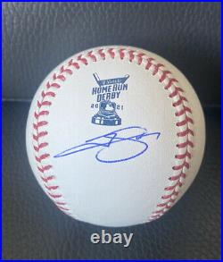 Trevor Story 2021 Home Run Derby Signed Autographed Ball Baseball