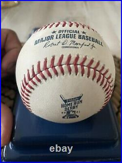 Trevor Story 2021 Home Run Derby Signed Ball. Home Run #6 From The 1st Round