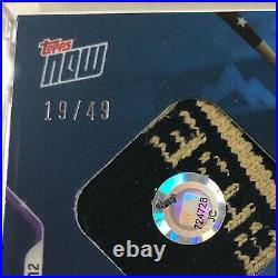 Trevor Story 2021 Home Run Derby Sock Relic BLUE Parallel #19/49 Topps NOW