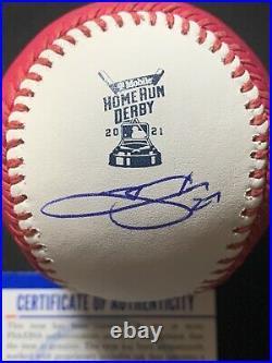Trevor Story Signed Autographed 2021 Home Run Derby Baseball COA PSA