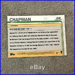 True 1/1 PLATINUM Matt Chapman As 2019 Topps Update Home Run Derby US48
