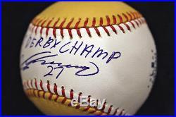 Vladimir Guerrero 07 Home Run Derby Champ Signed Baseball 2007 Hof 2018 Jsa Coa
