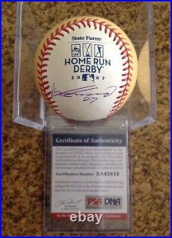 Vladimir Guerrero Autographed 2007 Home Run Derby Baseball. PSA DNA