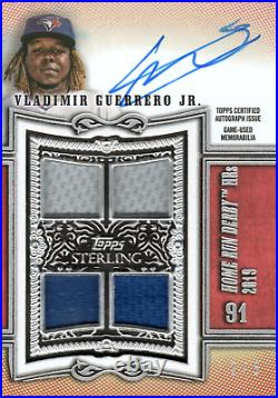 Vladimir Guerrero Jr 2020 Topps Sterling Home Run Derby Quad Relic Auto Red #2/5