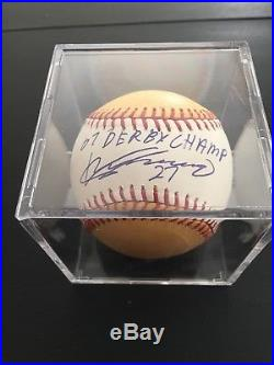 Vladimir Guerrero Signed 2007 Home Run Derby Baseball With Inscription JSA