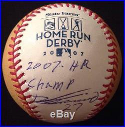 Vladimir Guerrero signed Rawlings 2007 Homerun Derby Baseball JSA Inscribed Vlad