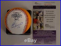 Yoenis Cespedes Signed Autographed Official 2014 Homerun Derby Baseball Jsa