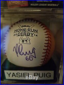 Yasiel Puig 2014 home run derby baseball