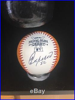 Yoenis Cespedes Autograph Bat & 2014 Home Run Derby Money Ball JSA Cert With Case